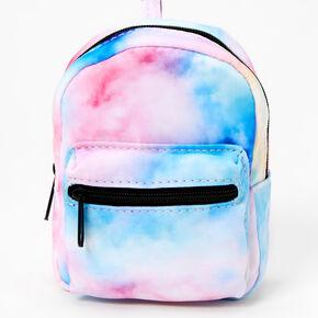 Pastel Tie Dye Mini Backpack Keychain,