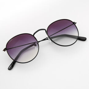 Faded Round Sunglasses - Black,