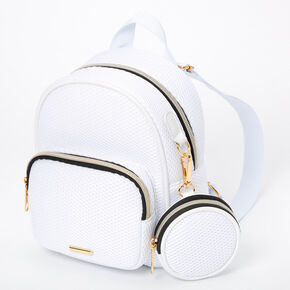 Mesh Mini Backpack - White,