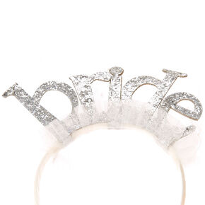 Bride Bachelorette Tulle Headband,