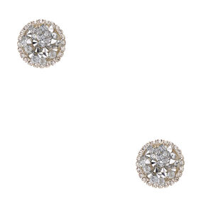 Icy Druzy Stone Round Clip-on Earrings,