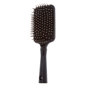Floral Paddle Hair Brush - Black,
