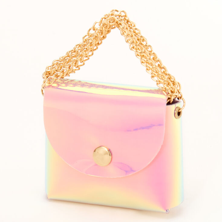 Holographic Mini Purse Earbud Case Cover - Compatible With Apple AirPods,