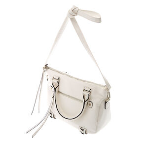 Faux Leather Olivia Crossbody Handbag - White,