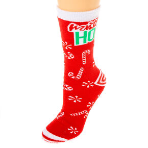 Mistle Ho Cozy Crew Socks - Red,