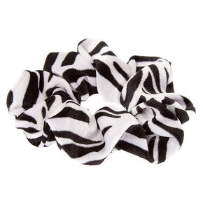 Zebra Velvet Hair Scrunchie,