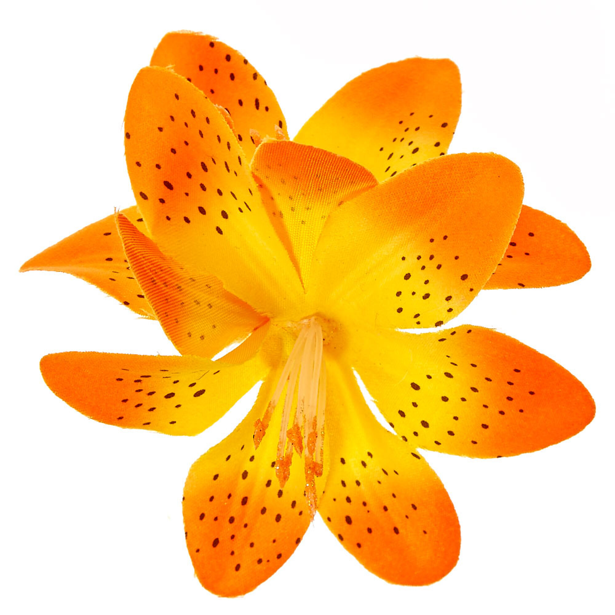 Spotted Orange Double Lily Flower Hair Clip Icing Us