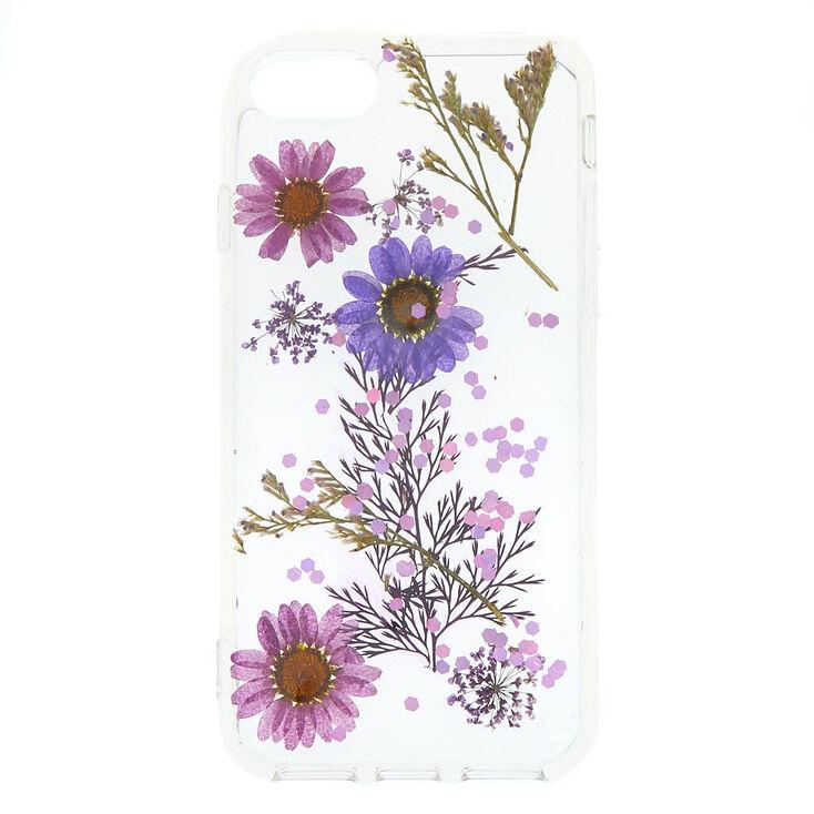 Pressed Flower Glitter Phone Case - Fits iPhone 6/7/8,