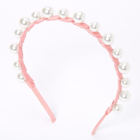 Pearl Wrap Headband - Blush Pink,