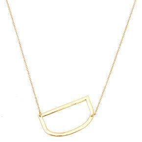 Oversized Initial Pendant Necklace - D,