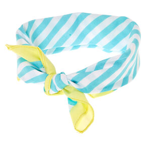 Mint & White Stripe Bandana Headwrap,
