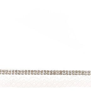 White Lace & Crystal Choker,