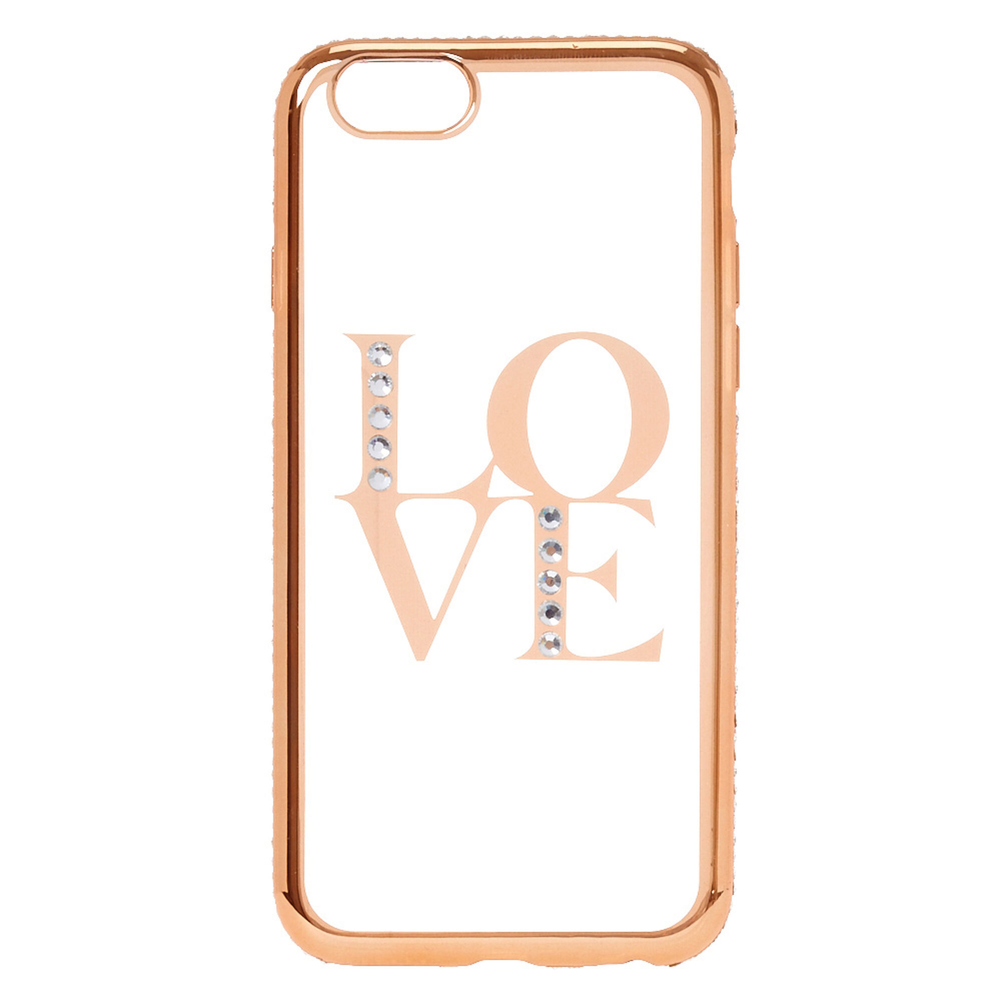 official photos cf004 e8c70 Gold Love Phone Case - Fits iPhone 6/7/8