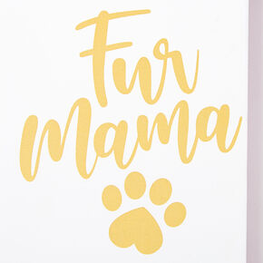 Fur Mama Paw Print Photo Frame - White,