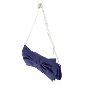 Bow Clutch Purse - Navy,