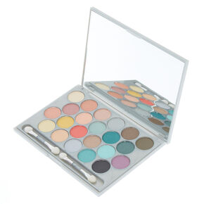 Holographic Marble Eyeshadow Palette - Silver,