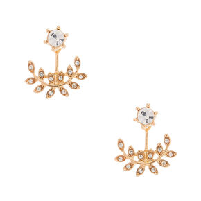 Rose Gold-Tone Vine Ear Jacket Earrings,