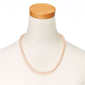 Blush Glass Pearl Necklace,