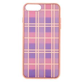 Pink Plaid Phone Case - Fits iPhone 6/7/8 Plus,