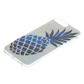 Holographic Pineapple Phone Case - Silver,