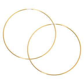 Gold 100MM Hoop Earrings,