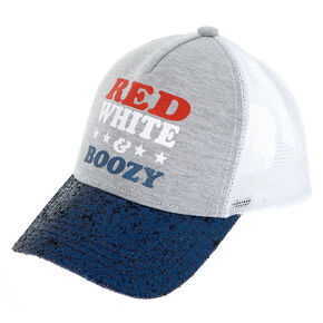 Red, White, & Boozy Trucker Hat,
