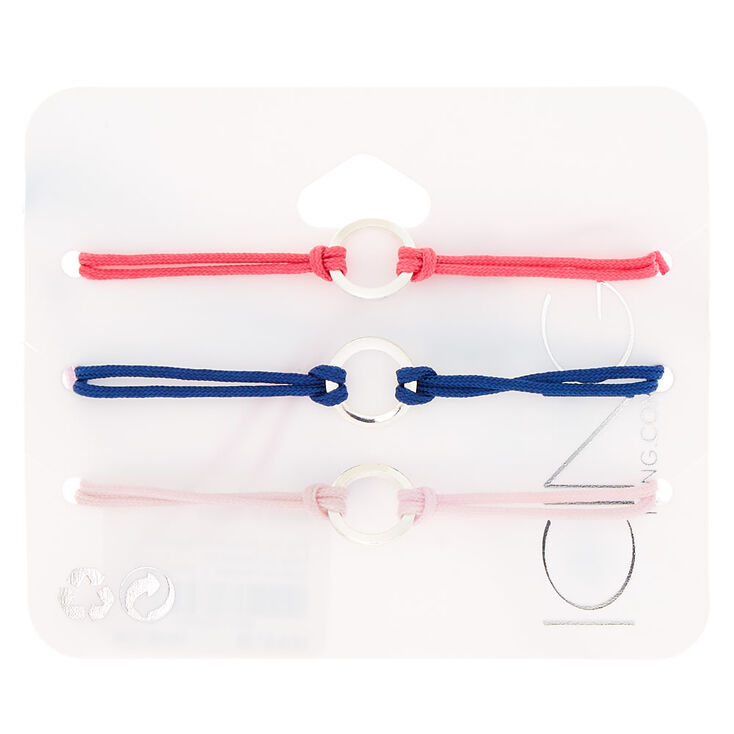 Girly Circle Adjustable Bracelets - 3 Pack,