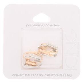 Mixed Metal Post Earring Converters - 2 Pack,