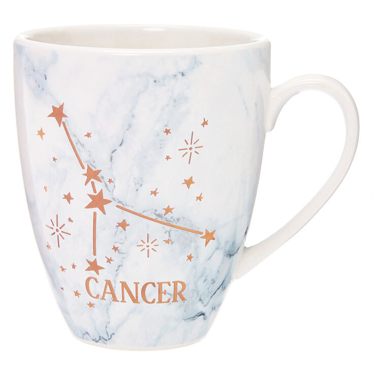 Ceramic Marble Zodiac Mug - Cancer,