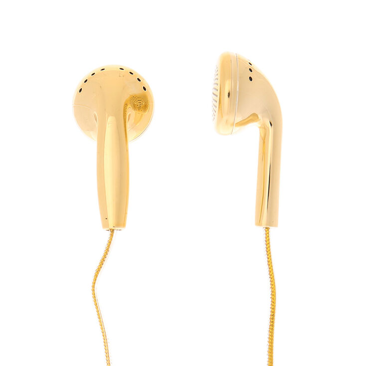 Gold Metallic Earbuds,