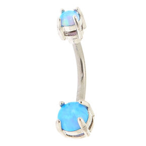 Titanium 14G Moon Stone Belly Ring,