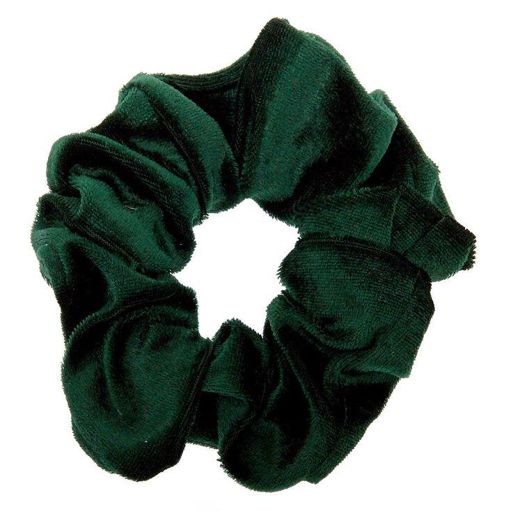 Velvet Hair Scrunchie - Emerald,