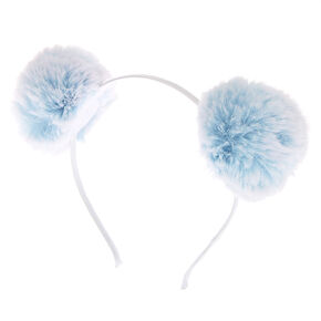 Ombre Pom Pom Ears Headband - Blue,