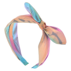 Pastel Anodized Knotted Bow Headband,