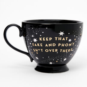 Black Ceramic Zodiac Mug - Cancer,