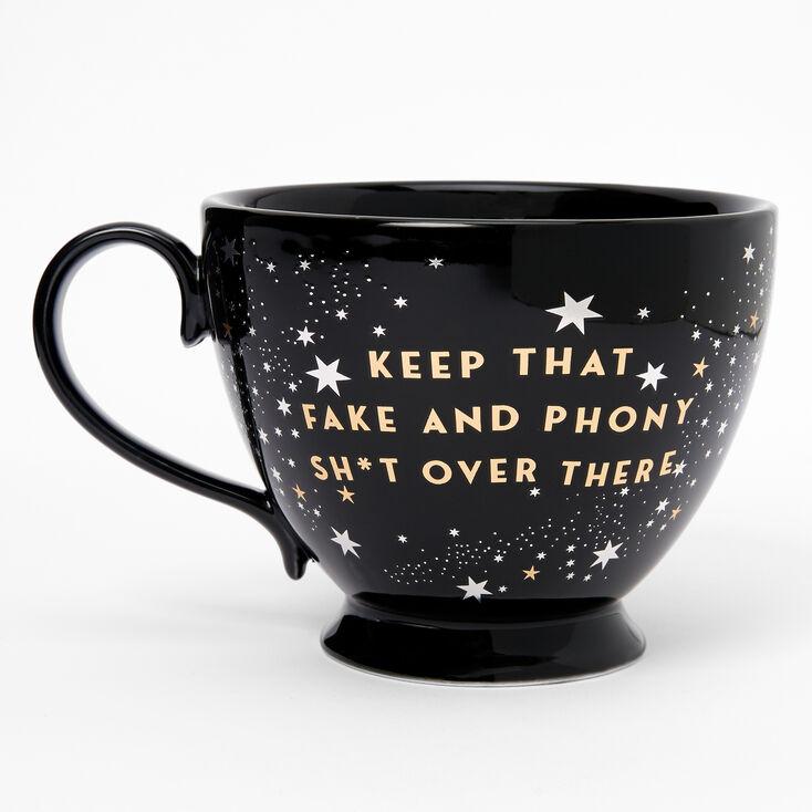 Black Ceramic Zodiac Mug - Cancer,