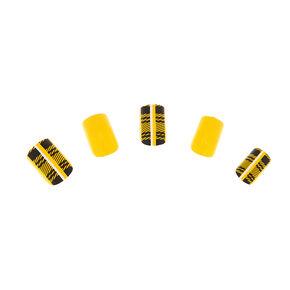 Plaid Faux Nail Set - Mustard, 24 Pack,