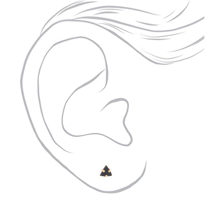 Gold Celestial Stud Earrings - Black, 9 Pack,