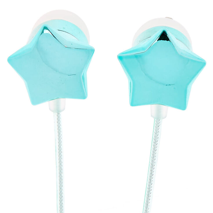 Turquoise Star Earbuds,