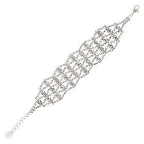 Multi Strand Rhinestone Bracelet,
