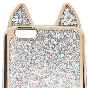 Metallic Silver Cat Phone Case - Fits iPhone 5/5S/SE,