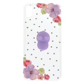 Clear Floral Bunny Squish Phone Case - Fits iPhone XS Max,