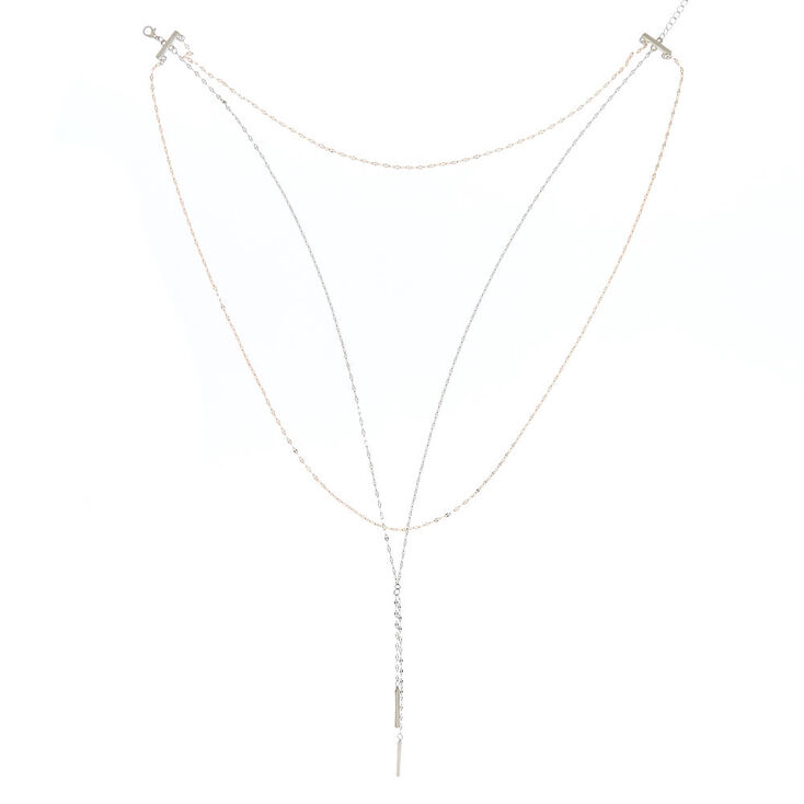 Mixed Metal Layered Chain Necklaces,