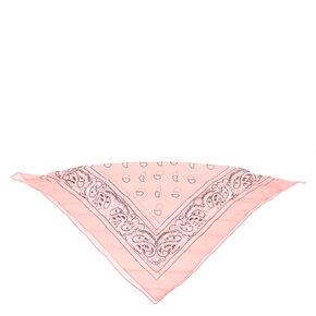 Paisley Bandana Headwrap - Light Pink,