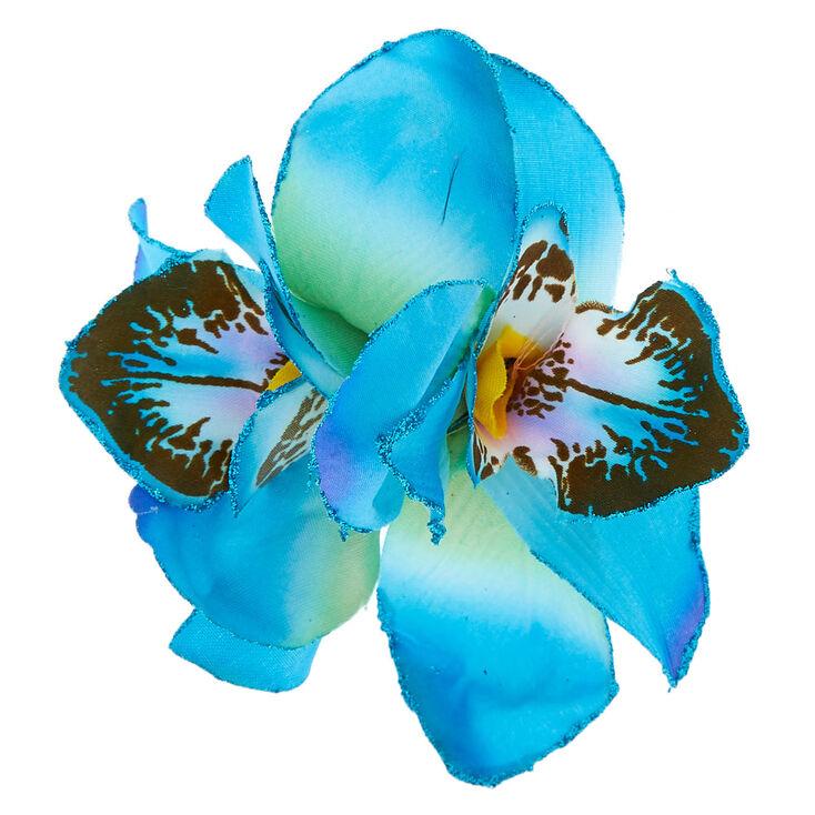 Orchid Hair Clip - Blue,
