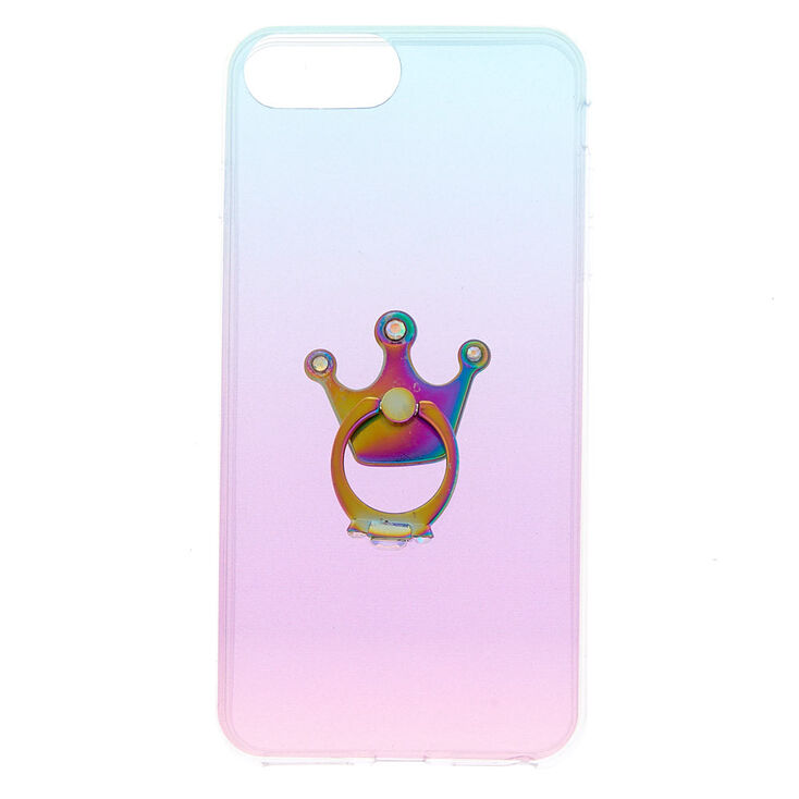 Glitter Ombre With Ring Stand Phone Case - Fits iPhone 6/7/8 Plus,