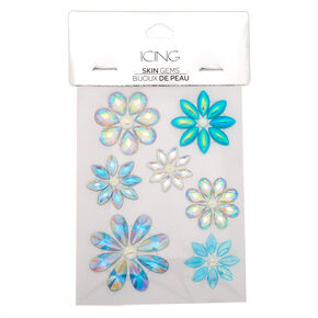 Iridescent Flower Skin Gems - Blue,