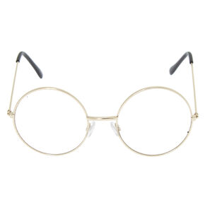 Silver Round Clear Lens Frames,