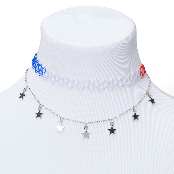 Patriotic Stars Choker Necklaces - 2 Pack,