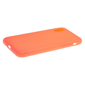 Neon Coral Perforated Phone Case - Fits iPhone XR,